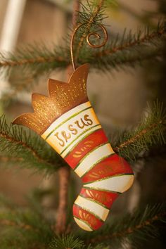 Jesus Stocking Ornament Red - The Round Top Collection C8075
