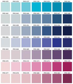 PANTONE Color Chart - PMS - Screen Printing | Inspiration ...