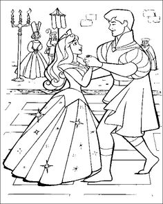 Sleeping Beauty Happy Dance Coloring Pages For Kids Printable