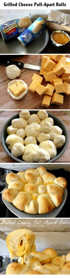 Grilled Cheese Pull-Apart Rolls