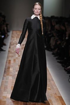 Maud Welzen on the runway for Valentino, Fall 2013