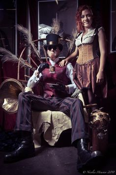 Steam people by Frenchsteampunk.com, via Hoop-skirts-and-corsets.