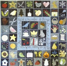 It's a Wonderful World quilt by Primitive Fok Art Shop on Etsy