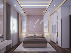 Ramada hotel suit design in Saudi Arabia in modern style Bedroom Pop Design, Wardrobe Design Bedroom, Luxury Bedroom Design, Bedroom Furniture Design, Bed Design, Ceiling Design Living Room, Best Living Room Design, Bedroom False Ceiling Design, Home Room Design