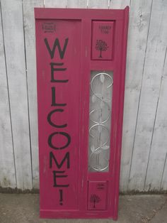 Welcome Sign Extra Large Shabby Chic Chalk Paint Home Decor by RescueRestoreMI on Etsy