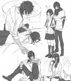 Ookurikara x Saniwa - Touken Ranbu Anime Couples Drawings, Anime Couples Manga, Cute Anime Couples, Anime Guys, Romantic Anime Couples, Touken Ranbu Characters, Anime Characters, Anime Comics, Manga Art