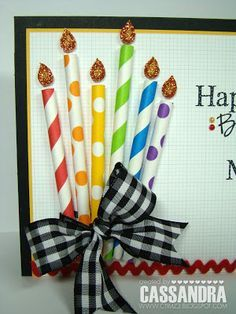 Love this idea for making candles. Would work well for a birthday board.