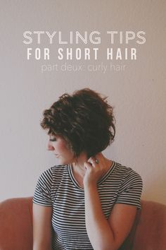 A Rambling Fancy | Hair Tutorial for curly hair, short hair (mines not this short, but tips still apply)