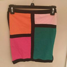 Colorblock mini skirt For the fashionably savvy! I bought thinking I could pull it off but never actually wore it! Great fun skirt. Charlotte Russe Skirts Mini