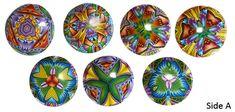 1-inch kaleidoscope beads by Carol Simmons