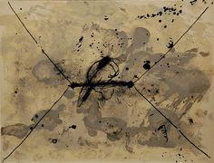 """dailyartjournal:    Antoni Tàpies, """"L'Enveloppe"""", color lithograph"""