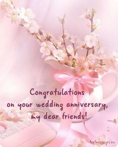Happy Wedding Anniversary Messages Wishes For Couple With Image – Fashion Cluba Happy Wedding Anniversary Message, Anniversary Quotes For Friends, Happy Wedding Anniversary Wishes, Happy Birthday Wishes Cards, Anniversary Greetings, Birthday Greetings, Wedding Wishes, Wedding Gifts, Birthday Cards