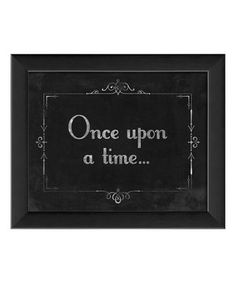 Silent Movie 'Once Upon a Time' Framed Wall Art by The Artwork Factory #zulily #zulilyfinds