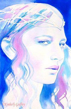 Galadriel Cate Blanchett Art Print of Original by KimberlyGodfrey
