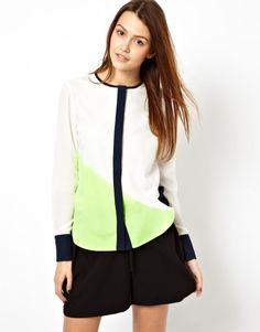 Asos Color Block Shirt By Jila and Jale in White (Colourblock)