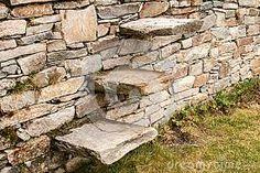 Resultado de imagen de dry stone wall stairs