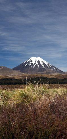 Mount Ngauruhoe from Whakapapa, Tongariro National Park, lower Central North Island, NZ