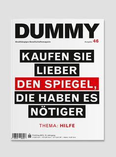 Magazine cover inspiration | Dummy.