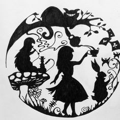 Wall Paper Disney Princess Alice In Wonderland Cheshire Cat 63 Ideas Alice In Wonderland Silhouette, Alice In Wonderland Drawings, Silhouette Art, Silhouette Cameo Projects, Kirigami, Chesire Cat, Princess Alice, Disney Princess, Through The Looking Glass