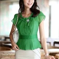 Resultado de imagen para blusas de chiffon verão 2013