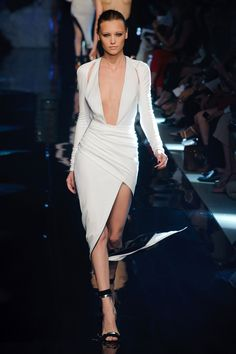 Alexandre Vauthier Couture Fall 2013 sexy white dress Hot!