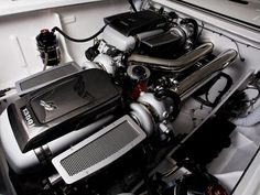 Mercedes-Benz  SLS AMG mercury racing-engine