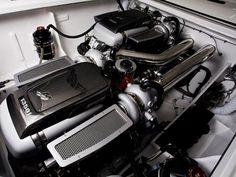 Mercedes-Benz  SLS AMG mercury racing-engine