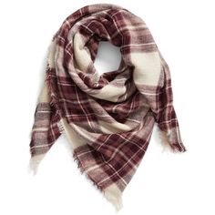 Women's Bp. Plaid Square Scarf (327.375 IDR) ❤ liked on Polyvore featuring accessories, scarves, burgundy multi, tartan plaid scarves, tartan plaid shawl, plaid shawl, square scarves and tartan shawl