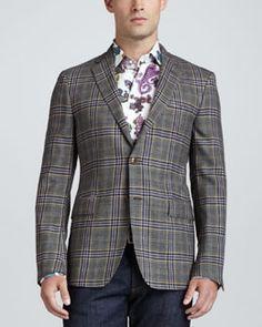 M083R Etro Wool Plaid Sport Coat