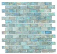 Sold by Sheet Sheet Size: 12 in. X 12 in. Chip Size: 1 in. X 2 in. Per Sheet: 1 Sqft Material: Glass Primary Color: Turquoise Blue Pattern: Brick Thickness: in. or 9 mm Patterned Bathroom Tiles, Glass Tile, Mosaic Pool, Amazing Bathrooms, Pool Tile, Mosaic Glass, Pattern Glass, Tile Patterns, Glass Mosaic Tiles
