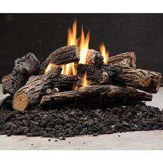 kingsman multisided ventless log set log sets gas - Ventless Gas Logs