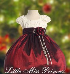 Red and White Baby Christmas Dress