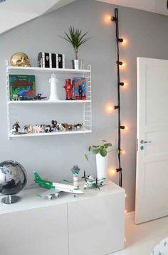 Or hang them from a hook in a kid's room for a modern nightlight.