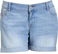 $34, Blue Denim Shorts: Old Navy Plus Cuffed Denim Shorts. Sold by Old Navy. Click for more info: https://lookastic.com/women/shop_items/29785/redirect