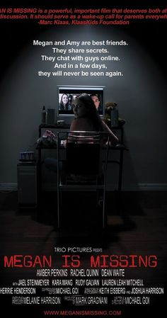 Directed by Michael Goi.  With Amber Perkins, Rachel Quinn, Dean Waite, Jael Elizabeth Steinmeyer. Fictional drama based on actual events, about 2 teen-age girls who encounter an internet predator.