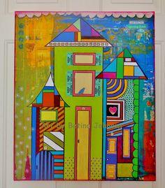 Cityscape...finally finished!  Art By Betina Johnson/Green Grass Art. Sold