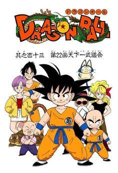 Bulma, Goku, Yamcha, Puar, Oolong, Master Roshi, Krillin, and Launch
