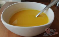 Krémová dýňová polévka | NejRecept.cz Fondue, Food And Drink, Cheese, Ethnic Recipes, Soups, Technology, Pump, Author, Tech