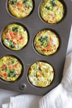 These easy, mini baked omelets are perfect to make ahead for the week. These muffins are inspired by my recent vacation to Beaches in Ochos Rios Jamaica. Every morning I would get an omelet with fresh fruit. The chef at the omelet station had all his ingredients prepped and quickly whipped up hundreds of omelets each morning to order. I used some of my favorite omelet ingredients but you can switch it up and add whatever you like or have on hand. Breakfast Desayunos, Make Ahead Breakfast, Breakfast Dishes, Breakfast Recipes, Mexican Breakfast, Breakfast Sandwiches, Breakfast Ideas, Breakfast Omelette, Healthy Egg Breakfast
