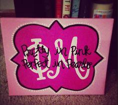 custom sorority canvas  phi mu by hannahbusinggg on Etsy, $12.00