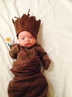 DIY Newborn/ Baby Groot Costume - Guardians of the Galaxy