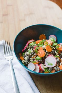 Miso Rice Salad with Sesame and Radishes