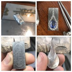 Marking out and doming a tear-drop shaped bearing with graduating diamonds is tricky... #platinum #ceylonsapphire #diamonds #pendant #handmade #canberra #jewellery #bespoke #jeweller #wip #progresspic #instajewelry #benchjeweller #madeincanberra