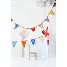 Mrs Fox bunting comes with a gorgeous array of colourful and patterned flags adding instant decorative cheer to a room or transform it to party...