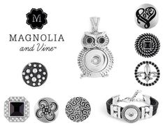 Magnolia & Vine jewelry & the interchangeable snaps. www.MyMagnoliaAndVine.com/1344