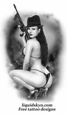 Gangster Pin Up Girl Tattoos | Gangster Girl