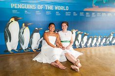 Our brides measure up! Photo from Beth & Jeannine : Maryland Zoo collection by Maria Linz Photography