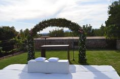 Our larger wedding arch, that can be decorated in numerous ways