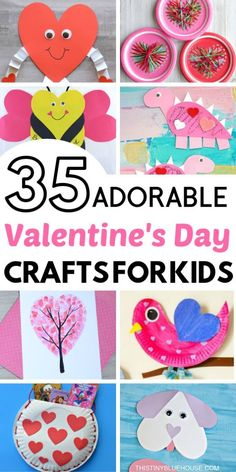 35 Valentine's Day Crafts For Kids that are easy to make and super fun. Add one or more of these adorable crafts to your holiday crafting to-do list! day crafts for kids 35 Adorable Valentine's Day Crafts For Kids - This Tiny Blue House Toddler Valentine Crafts, Valentines Day Food, Valentines Day Activities, Homemade Valentines, Valentines For Kids, Valentines Crafts For Preschoolers, Valentine Ideas, Valentines Crafts For Kindergarten, Diy Valentines Cards