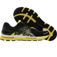 Asics Gel-Excel 33 mens shoes in black, lightning, and sun